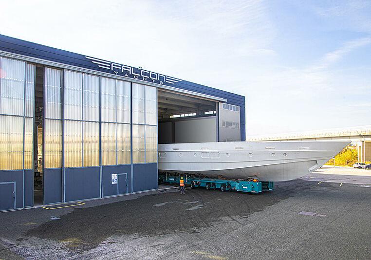 Falcon Yachts facility in Pisa