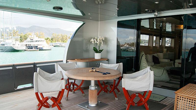 Maraya yacht aft deck