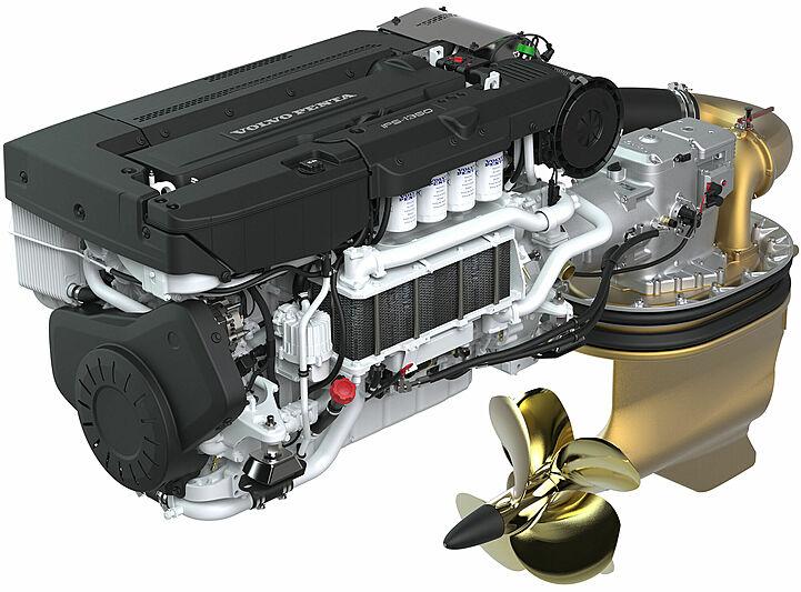 Volvo Penta IPS 1350 Engine and Pod Drive unit