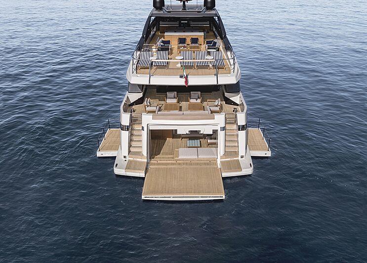 Sanlorenzo SL120 Asymmetric yacht exterior design