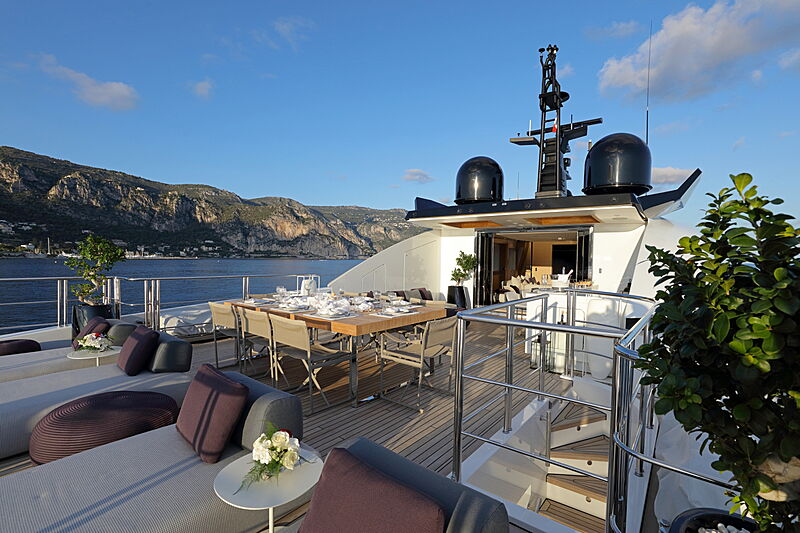 Katia yacht deck