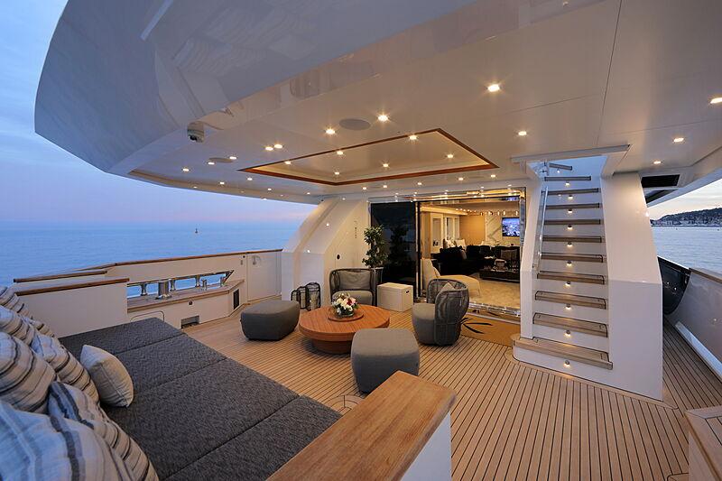 Katia yacht aft deck
