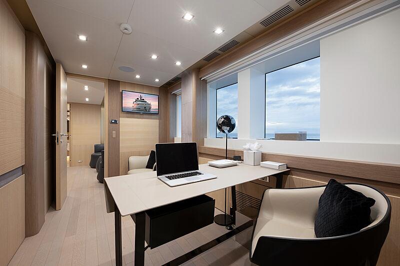 Katia yacht study room