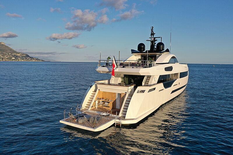 Katia yacht anchored