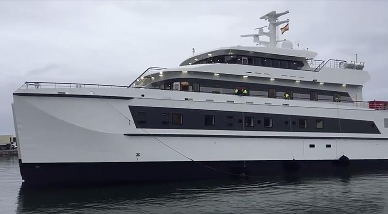 Wayfinder yacht launch at Astilleros Armon