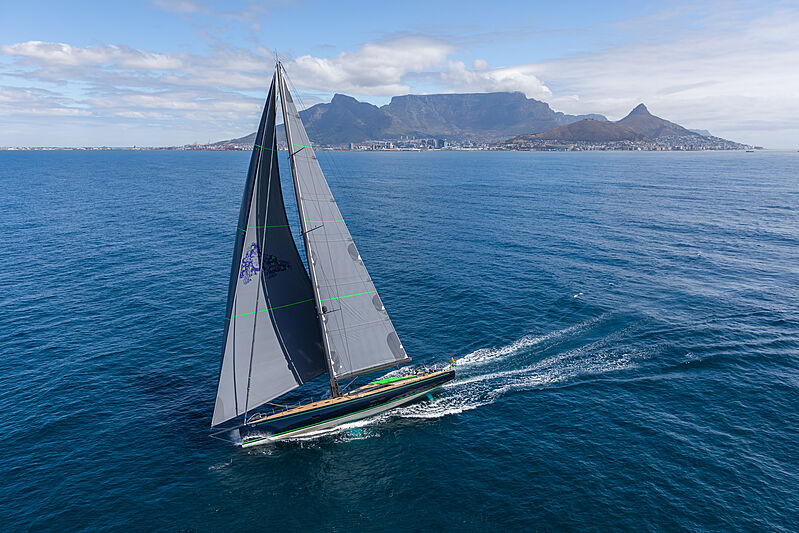 Morgana yacht on sea trials