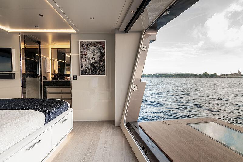 Rock yacht interior