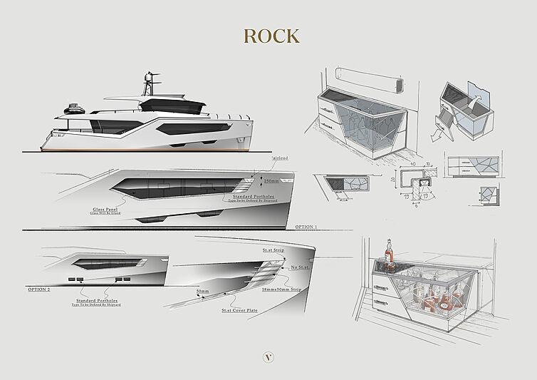 Rock yacht renderings