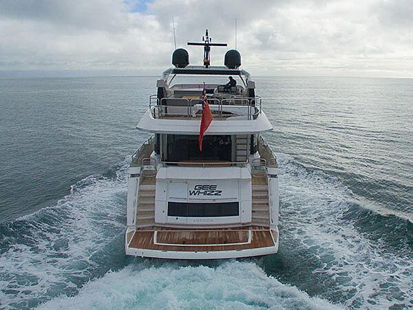 Gee Whiz yacht running