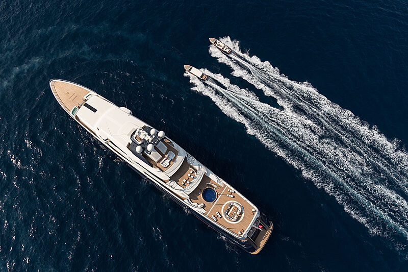 Tranquility yacht with tenders