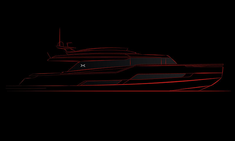 Extra X99 yacht rendering