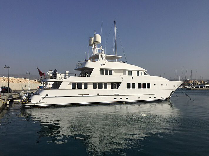 North Explorer yacht in marina