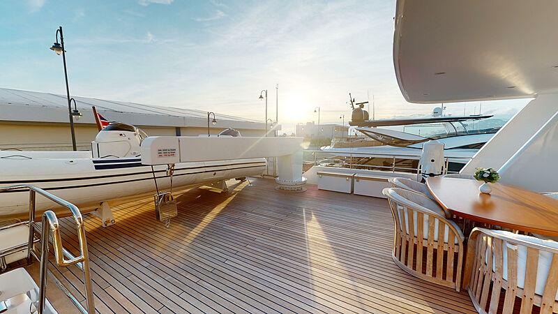 North Explorer yacht aft deck