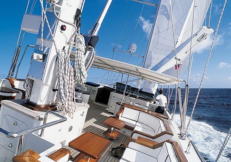 Felicita West yacht deck