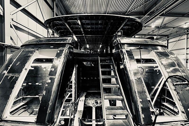 Lady Lene yacht in build at Van der Valk Shipyard