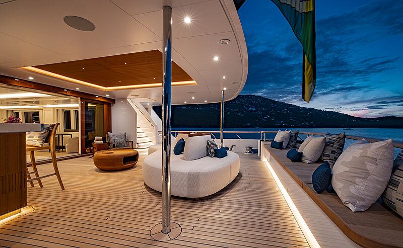 Broadwater yacht aft deck