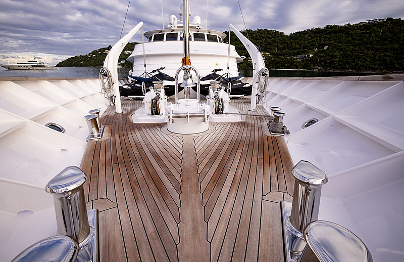 Broadwater yacht foredeck