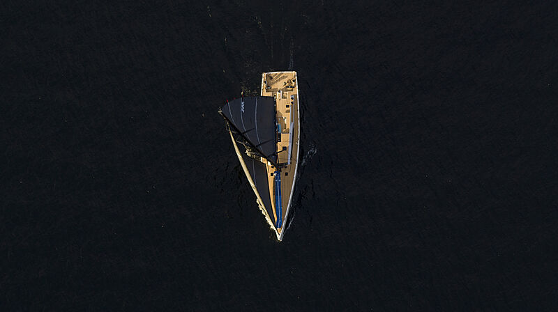 BeCool yacht cruising aerial