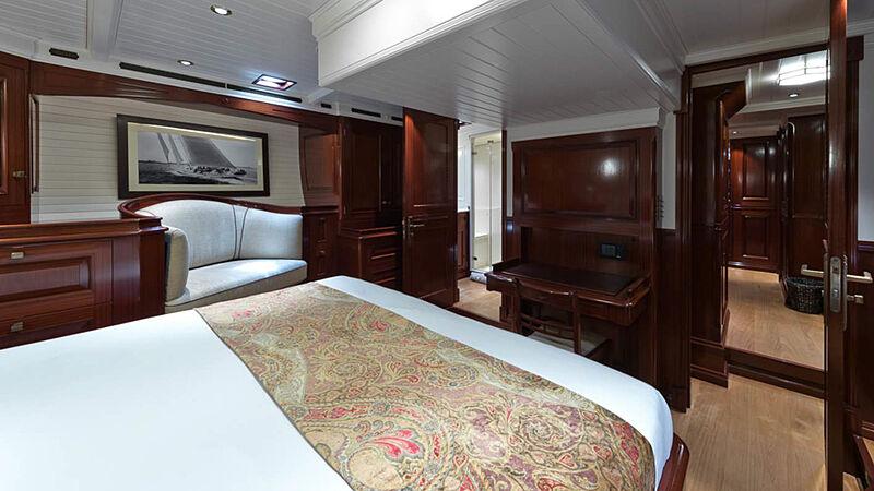 Rainbow yacht interior