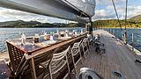 Rainbow yacht deck