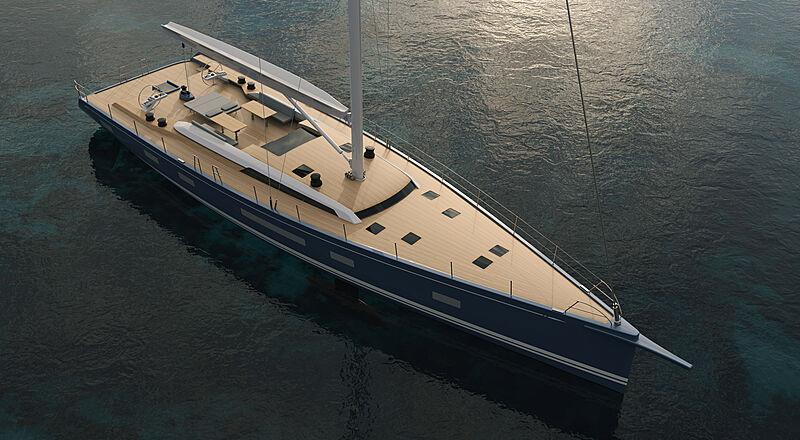 Design extérieur du yacht Swan 88