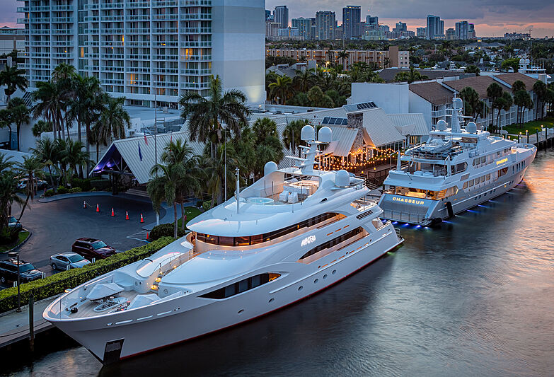 Avalon and Chasseur yachts in Fort Lauderdale