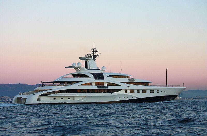Palladium yacht arriving in Gibraltar
