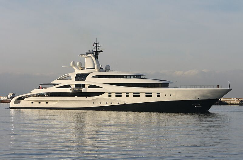 Palladium yacht arriving in Gibraltar