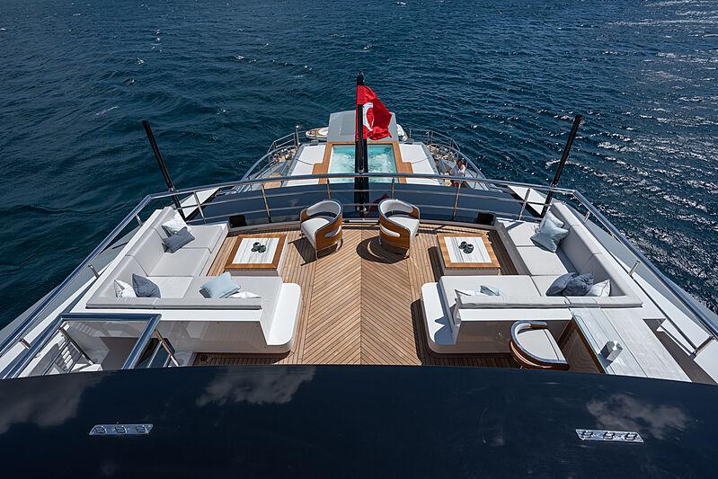 Tatiana yacht bridge deck aft sitting area