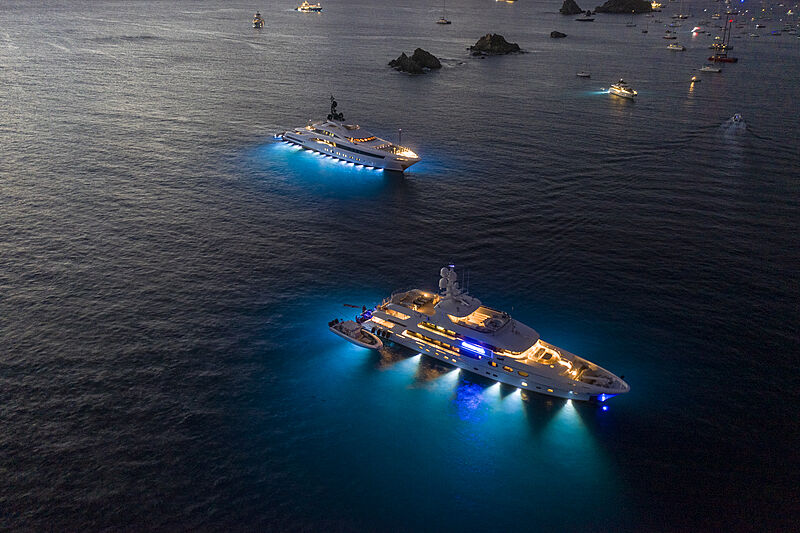 Yala and Remember When yachts in St Barths