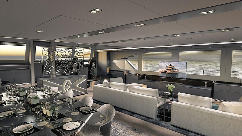 Ocean Eco Explorer 90 yacht interior design