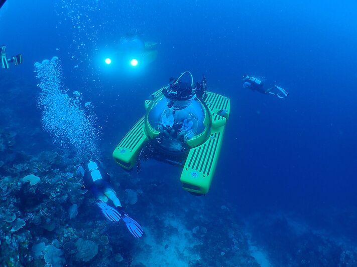 Triton submarine underwater