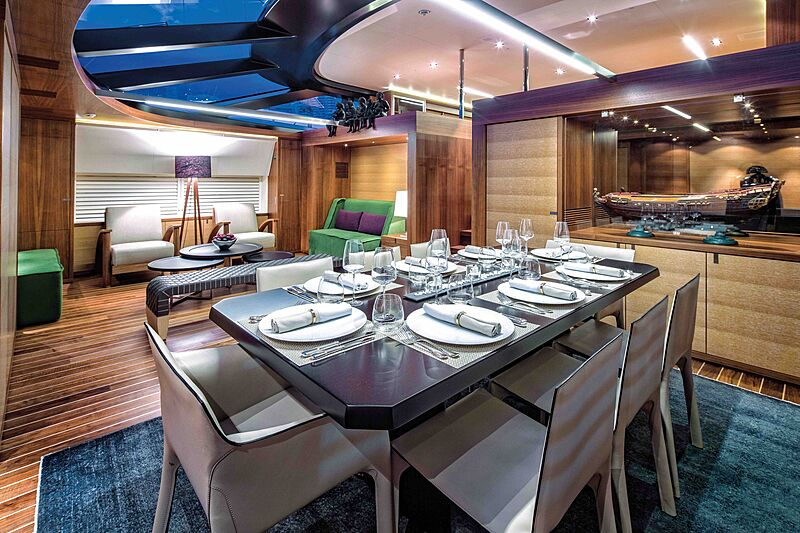 State of Grace yacht dining
