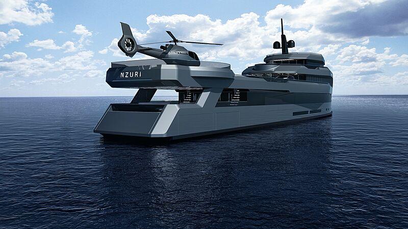 Nzuri yacht exterior design