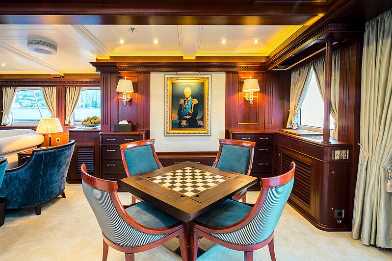 Mikhail S. Vorontsov yacht saloon