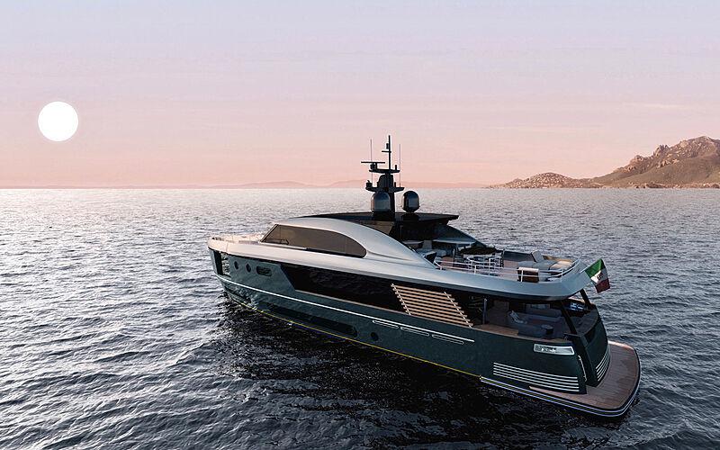 Azimut Magellano 30 Metri yacht exterior design