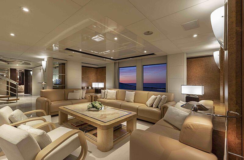 Sirona III yacht saloon