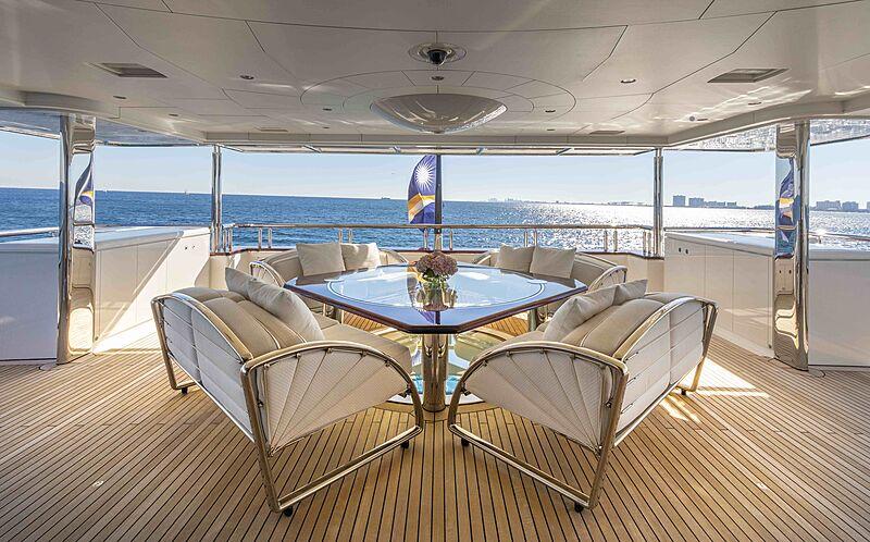Sirona III yacht aft deck