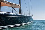 Nefertiti yacht at anchor