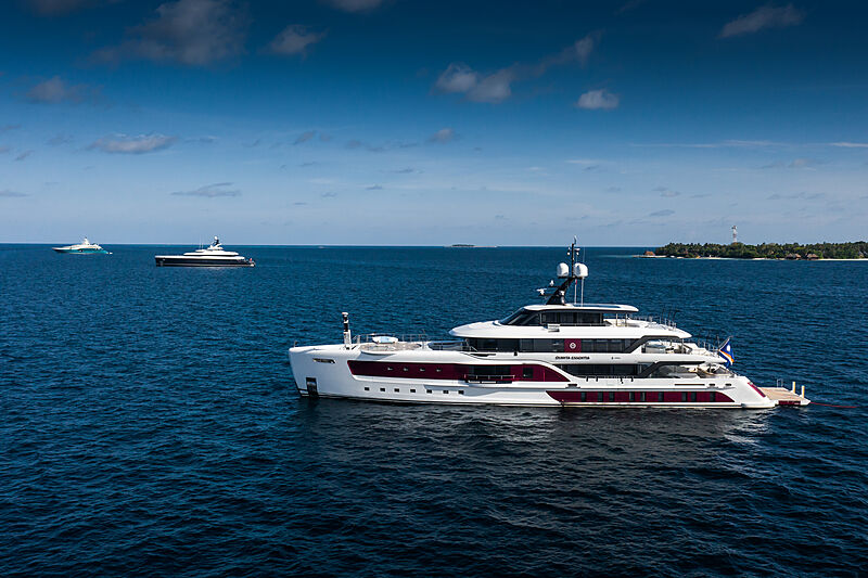 Quinta Essentia yacht by Admiral in the Maldives