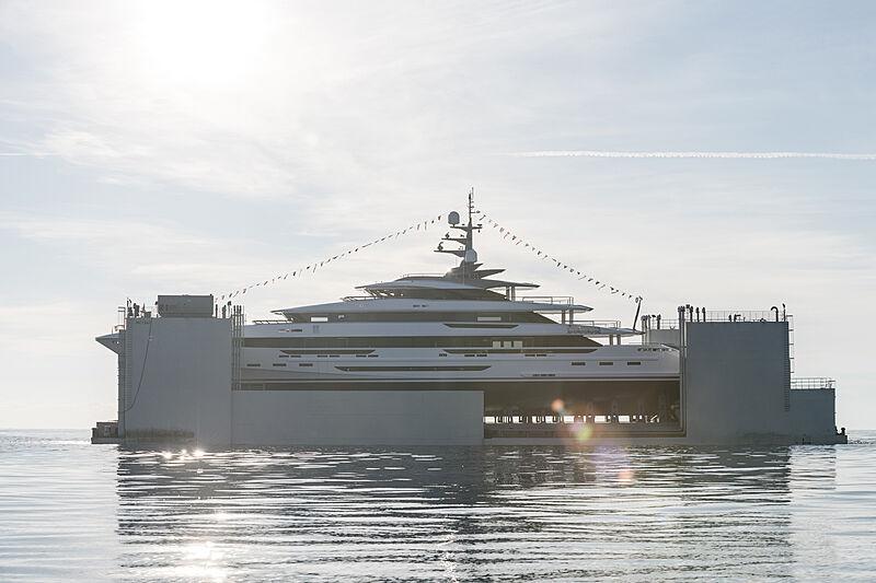 Polaris II yacht launch in Viareggio