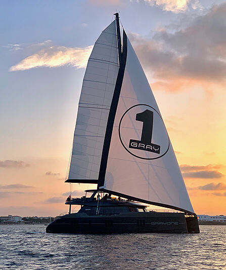 Grayone yacht anchored