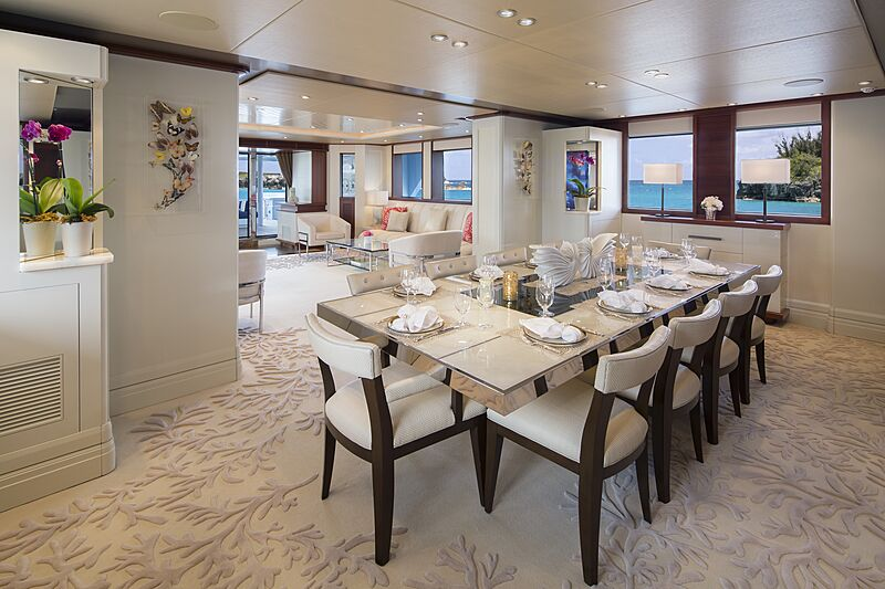 Time for Us yacht dining