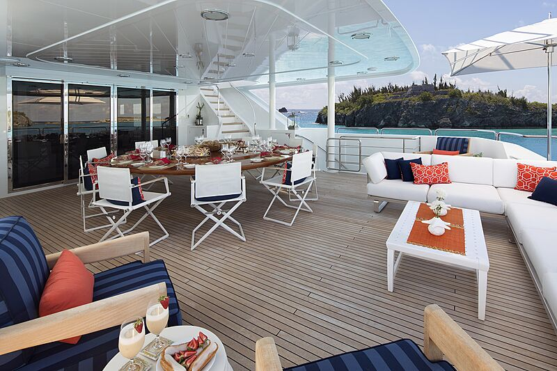 Time for Us yacht aft deck