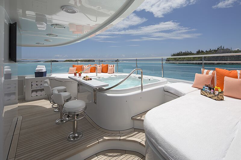 Time for Us yacht jacuzzi