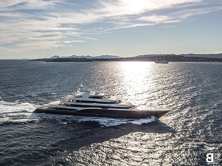 101.5m Symphony cruising in Antibes