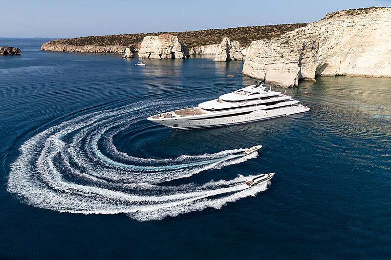 O'Pari yacht aerial
