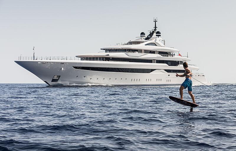 O'Pari yacht anchored