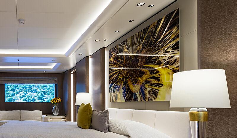 O'Pari yacht interior detail