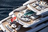 O'Pari yacht cruising aerial